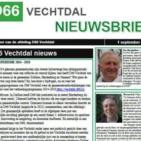 nieuwsbrief d66 vechtdal sept 2016